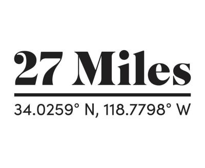Shop 27 Miles Malibu logo