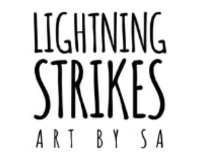 Shop lightning strikesart logo