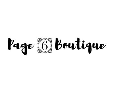Shop Page 6 Boutique logo